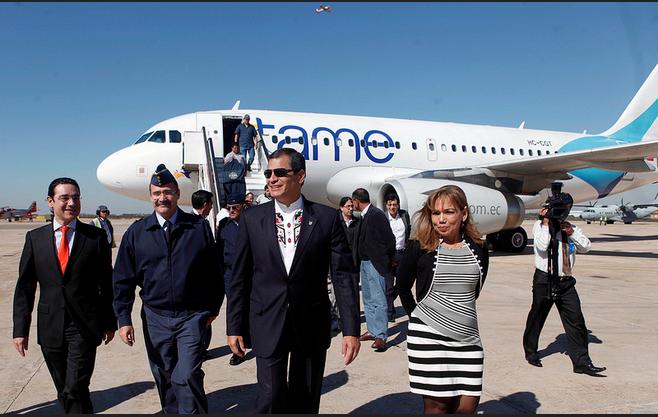 Correa en el 2012 durante una escala técnica en España antes de llegar a Turquía