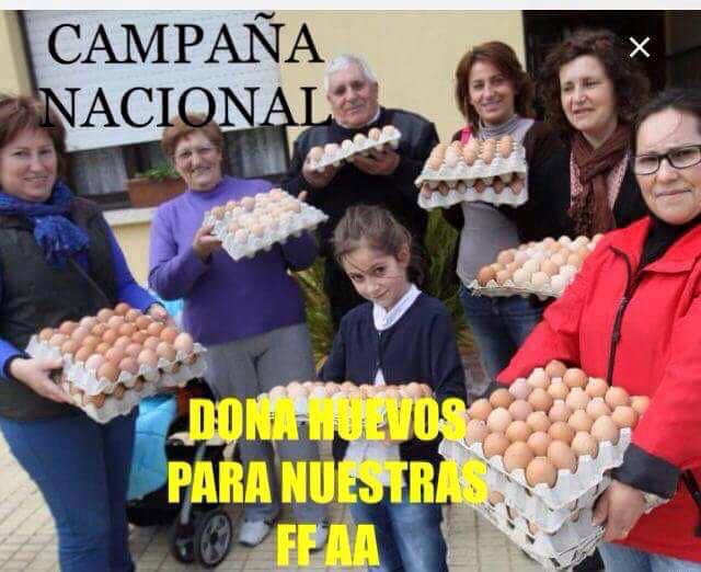 huevos para las ff.aa.