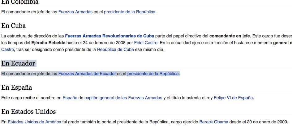 Wiki primer cambio