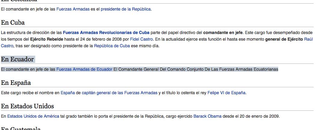 Wiki segundo cambio