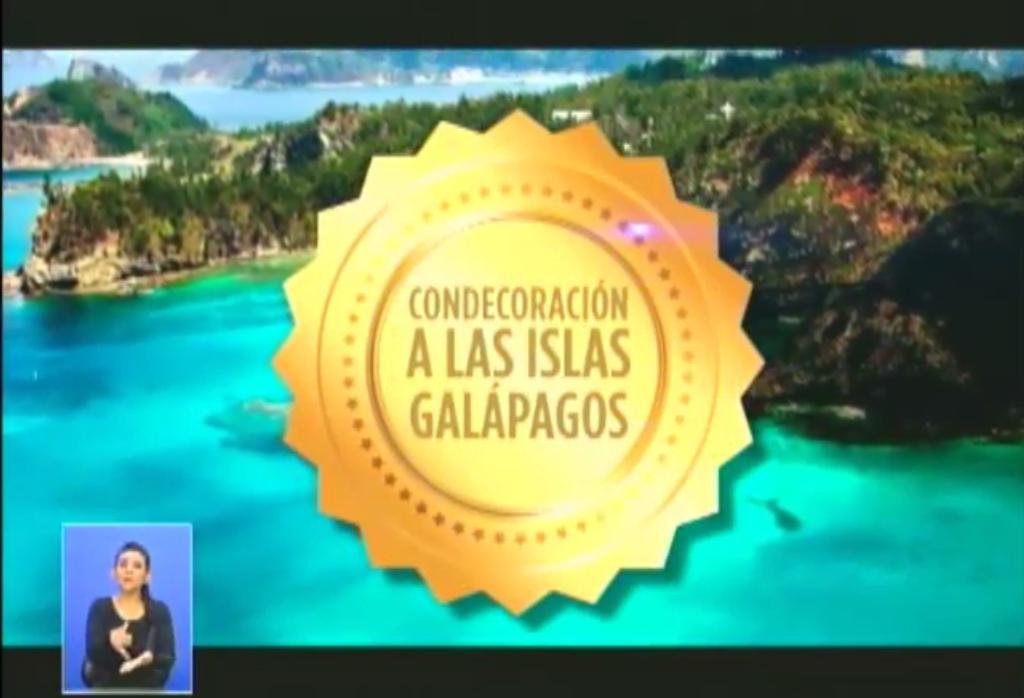 galápagos, condecoración