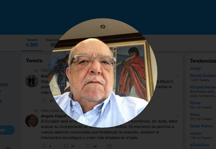 edf957efc5 Fidel Egas enciende una ola chovinista en Twitter – 4pelagatos