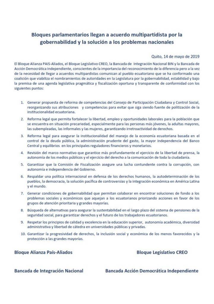 Texto del Acuerdo Legislativo