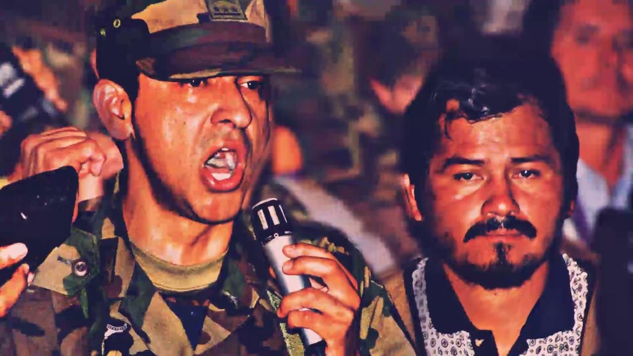 Lucio Gutiérrez y Antonio Vargas en enero del 2000.